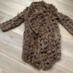 Jackets & Blazers - PRICE DROP! Real Fur knitted Light Poncho